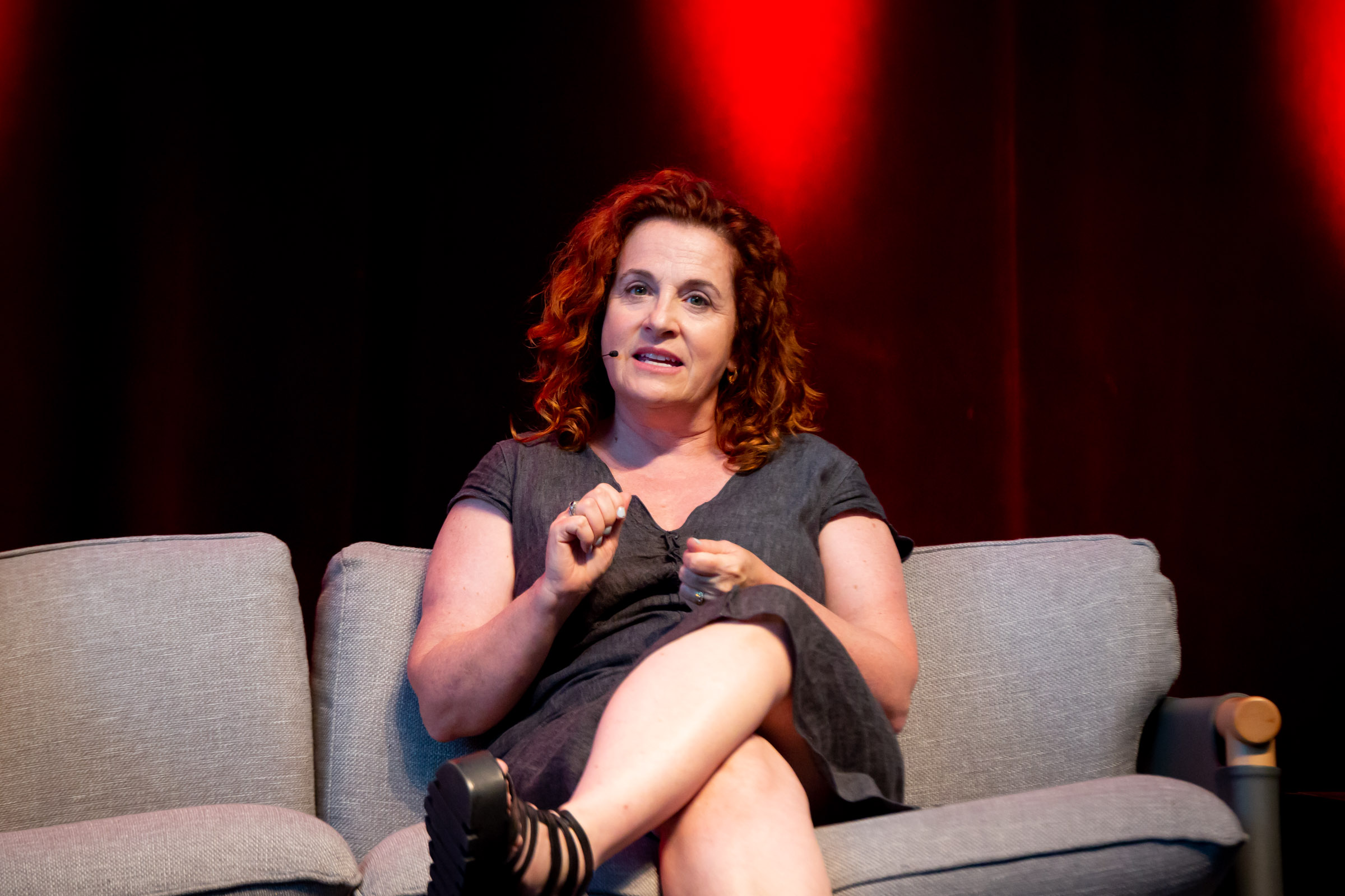 Ayelet Waldman on stage at FODI