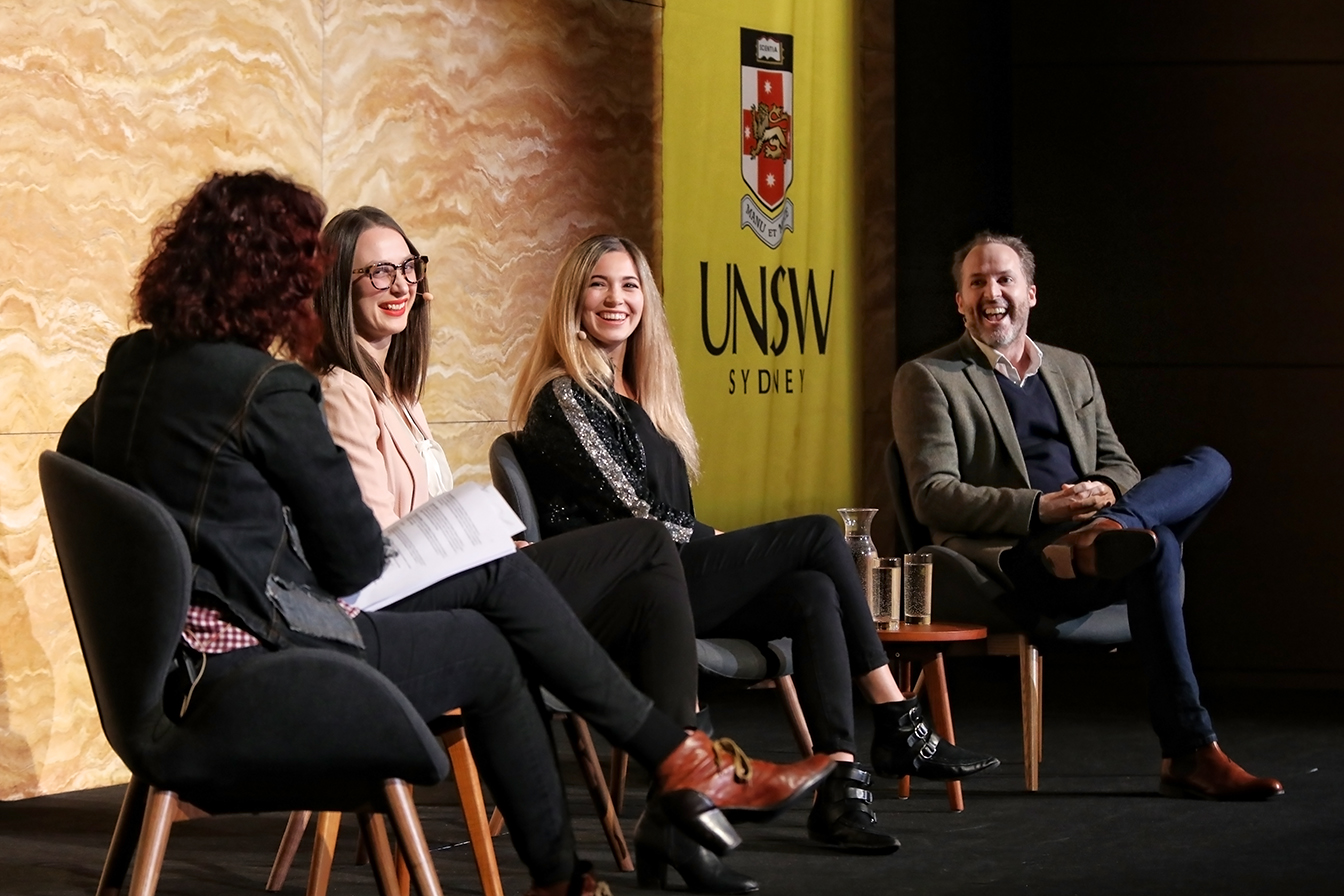 Julia Shaw, Georgie Fleming & Luke Russell at UNSW event Rethinking Evil