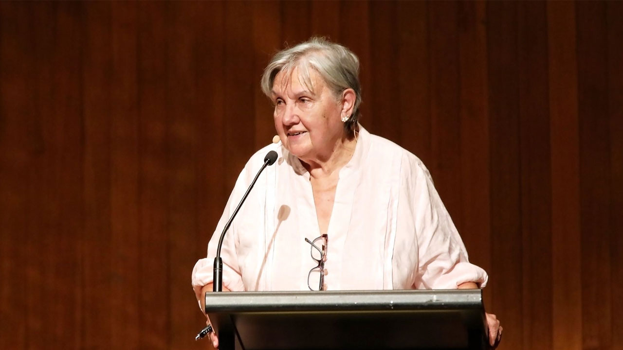Pat Anderson at UNSW's annual Gandhi oration