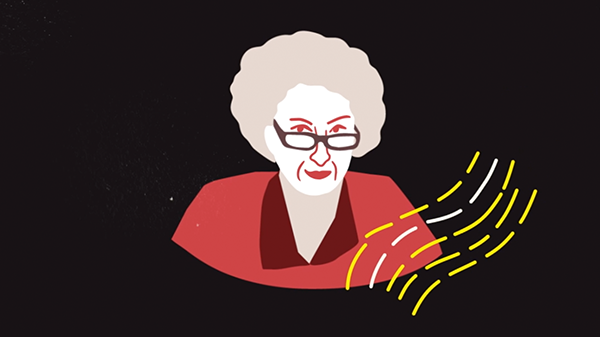 Animation of Margaret Atwood